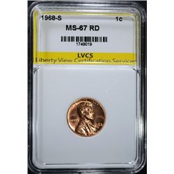 1968-S LINCOLN CENT LVCS SUPERB GEM