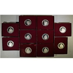 (10) 1982 George Washington Proof Half Dollars