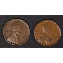 1915-D XF & 1929-S AU LINCOLN CENTS