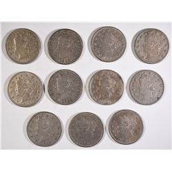 11-BU 1883 LIBERTY NICKELS