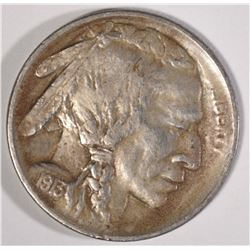 1913-S TYPE-1 BUFFALO NICKEL, AU/BU