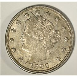 CH BU 1883 NO CENTS LIBERTY NICKEL