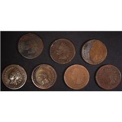 1-1874, 1-1876, & 5-1879 INDIAN HEAD CENTS
