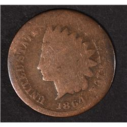 "1864 ""L"" INDIAN CENT, GOOD"