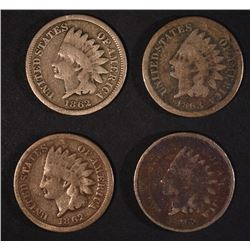 2-1862 & 2-1863 INDIAN CENTS
