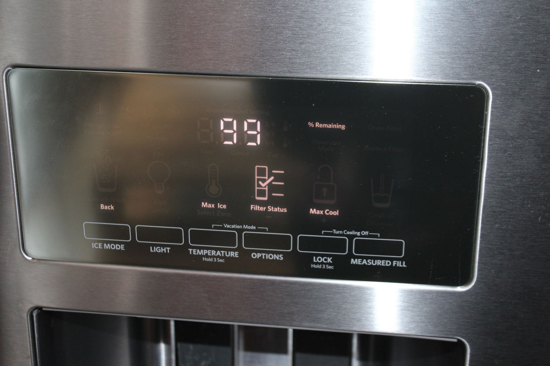 As New Kitchen Aid Stainless French Door Fridge With Digital Water