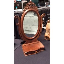 Antique Mirror with Drawer
