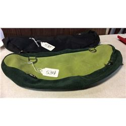 Green Leather Cantle Bag-new