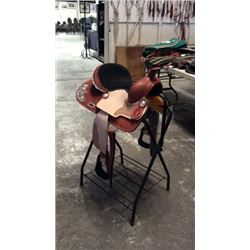 "13"" Double T Silver Kids Saddle"