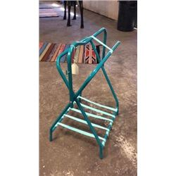 Teal Saddle Stand-new