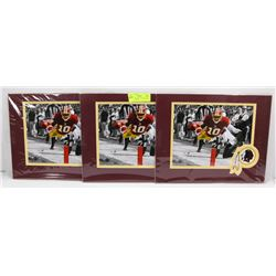 LOT OF 3 WASHINGTON REDSKINS ROBERT GRIFFIN