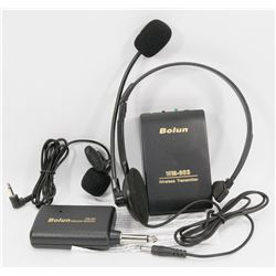 NEW BOLUN WIRELESS RADIO SET INCLUDING