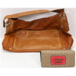 AUTHENTIC MATT & NAT LEATHER PURSE AND GUESS