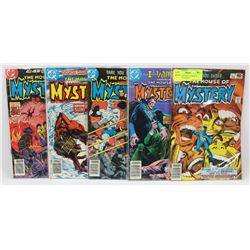 LOT OF 5 VINTAGE 1970-80'S DC HOUSE OF MYSTERY