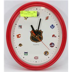 VINTAGE NHL WALL CLOCK