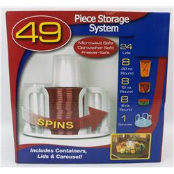 NEW 49PC STORAGE SYSTEM INCLUDES CONTAINERS