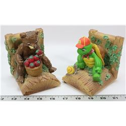 SET OF FRANKLIN THE TURTLE BOOK ENDS