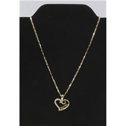 WHITE SAPPHIRE MOM HEART SHAPED PENDANT AND CHAIN