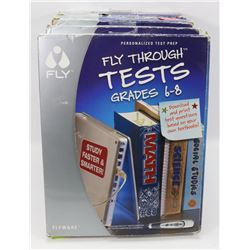 LOT OF 4 TEST PREP KITS FOR GRADES 6-8
