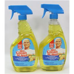 TWO BOTTLES OF MR.CLEAN MULTI SURFACE CLEANER/