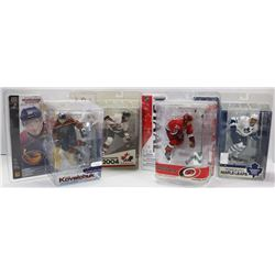 LOT OF 4 SEALED MACFARLANE FIGURES ERIC STAAL, JOE