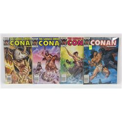 #134-137 CONAN THE BARBARIAN MARVEL COMIC BOOKS