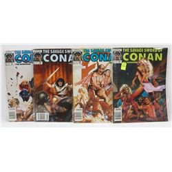 #144-147 CONAN THE BARBARIAN MARVEL COMIC BOOKS