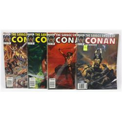 #148-151 CONAN THE BARBARIAN MARVEL COMIC BOOKS