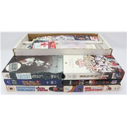 1600 ASSORTED HOCKEY CARD SET&6 VHS GRETZKY TAPES