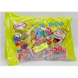 3 BAGS OF BIG LOLLYPOPS ORIGINAL SOUR POPS