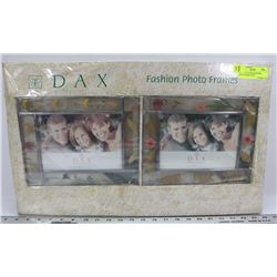 "SET OF 2 DAX PHOTO FRAMES, 8""X10"" FRAME TAKES"