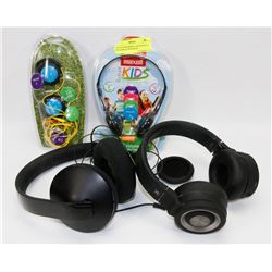 FLAT OF ASSORTED HEADPHONES