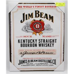 NEW JIM BEAM KENTUCKY WHISKEY FRAMED CANVAS