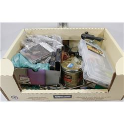 LARGE BOX W/ LARGE ASSORTMENT OF FLY TYING MATERIALS