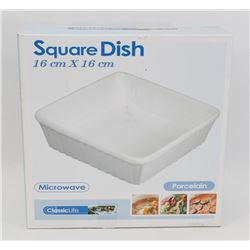 NEW 16CM X 16CM SQUARE SERVING DISH