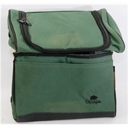 NEW OLYMPIA INSULATED 2 COMPARTMENT LUNCH BAG