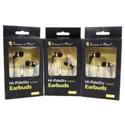 LOT OF THREE HIGH FIDELITY EARBUD HEADPHONES