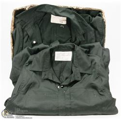 4 NEW ASSORTED GREEN COVERALLS