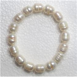 #1-FRESH WATER PEARL FLEXIBLE SIZE BRACELET