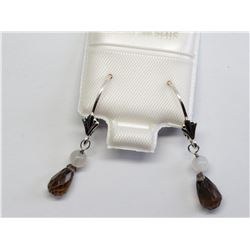 #2-GENUINE SMOKEY QUARTZ EARRINGS