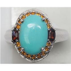 #11-STERLING SILVER TURQUOISE RING