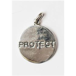#17-STERLING SILVER 'PROTECT' PENDANT