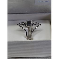 #20-STERLING SILVER CUBIC ZIRCONIA RING
