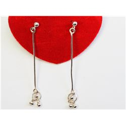 #21-STERLING SILVER PENDANT EARRINGS