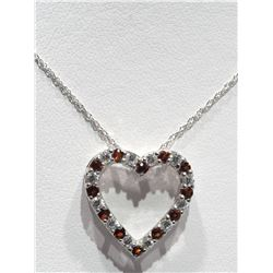 #22-STERLING SILVER NATURAL GARNET AND