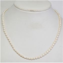 #25-STERLING SILVER FRESHWATER PEARL NECKLACE