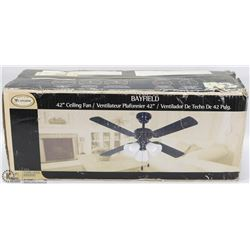 "NEW 42"" CEILING FAN"