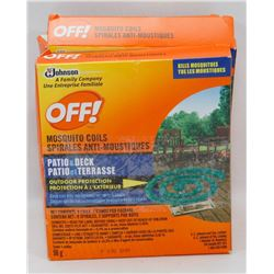 LOT OF 4 OFF MOSQUITO COILS PATIO & DECK 96G EACH