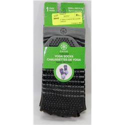 3 PAIRS OF SMALL/MEDIUM GAIAM TOELESS SOCKS