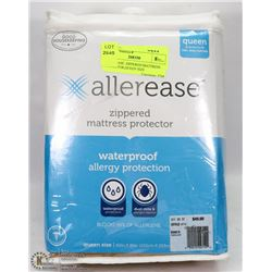 ALLEREASE  ZIPPERED MATTRESS PROTECTOR,QUEEN SIZE